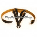 Black Gloss PVC Bass Drum Harness with Plain Buckles