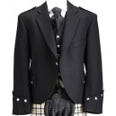 Highland Scottish Black Argyll Kilt Jacket with Waistcoat
