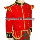 Scottish Military Pipe Band Black Doublet