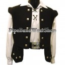 Black Sheriffmuir 4 Buttons Waistcoat