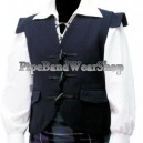 Black Jacobite 10 Buttons Waistcoat