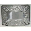 Celtic Swirl Kilt Waist Belt Chrome Buckle