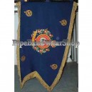 Hand Embroidered Bagpipe Pipe Banner